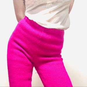 VINTAGE 100% Wool High Rise Cropped Flare Pants